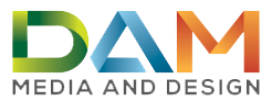 DAM Media and Design Logo
